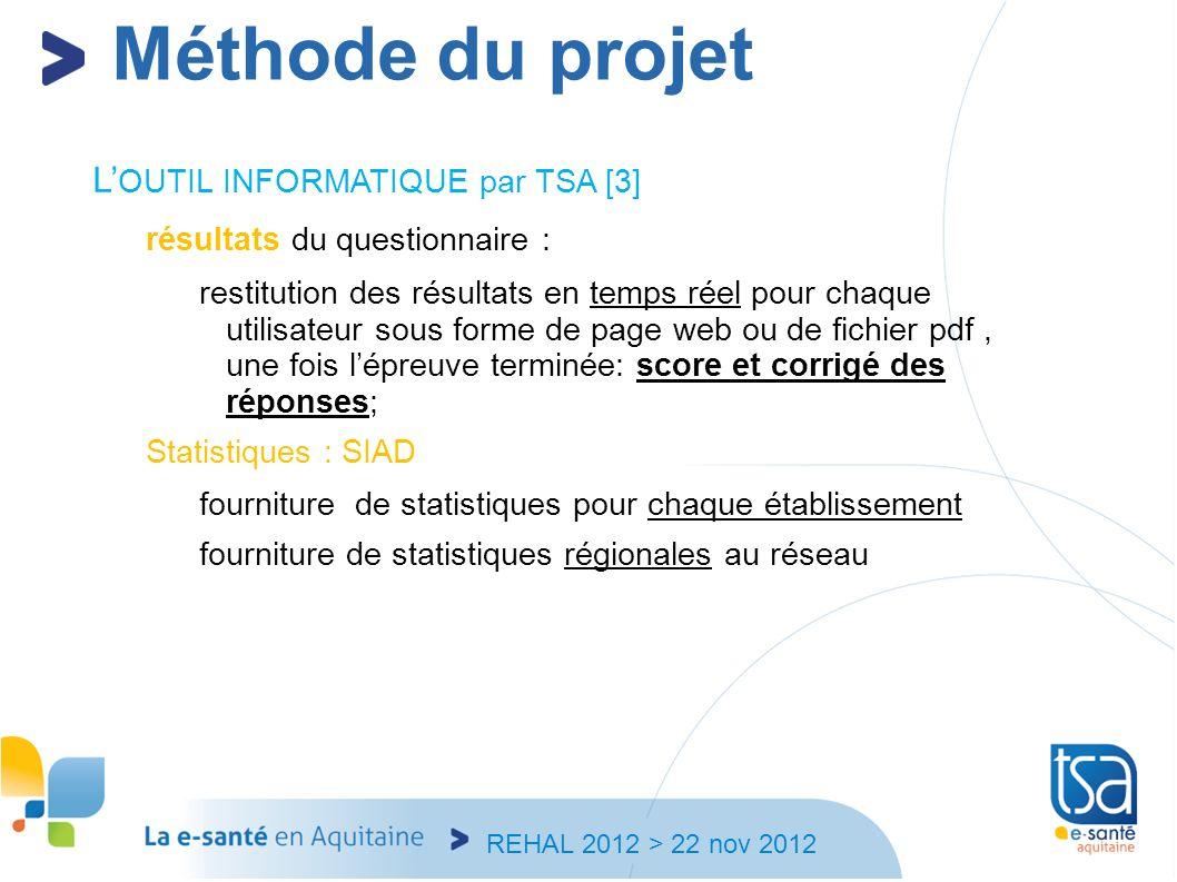 Méthode du projet L'OUTIL INFORMATIQUE par TSA [3]